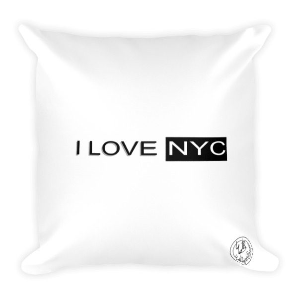 I love NYC back of square pillow