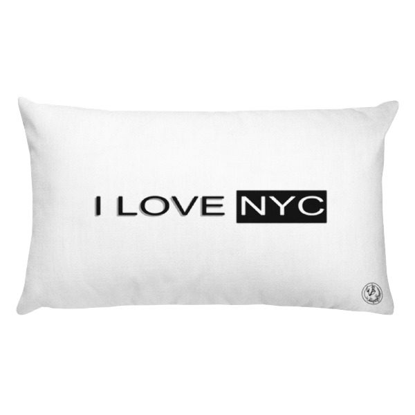 I Love NYC rectangle pillow