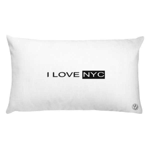 I Love NYC rectangle pillow 5