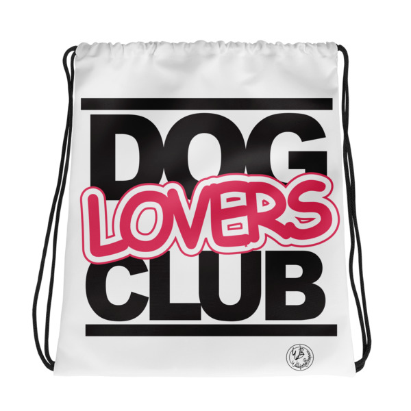 Dog Lovers CLUB drawstring bag